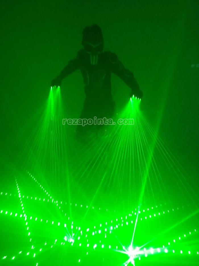レーザー光線 手袋