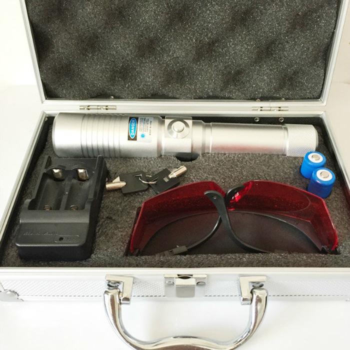5000mw高火力ブルーレーザーポインター,爆竹、タバコ、マッチ、蚊取り線香を火が付けます