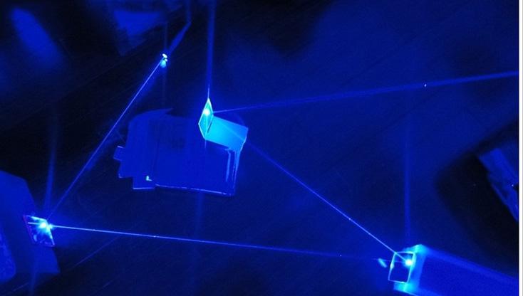 2018新品ブルー超強力レーザーポインター