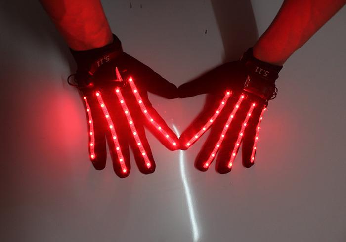 男女兼用LEDグローブ 光る手袋
