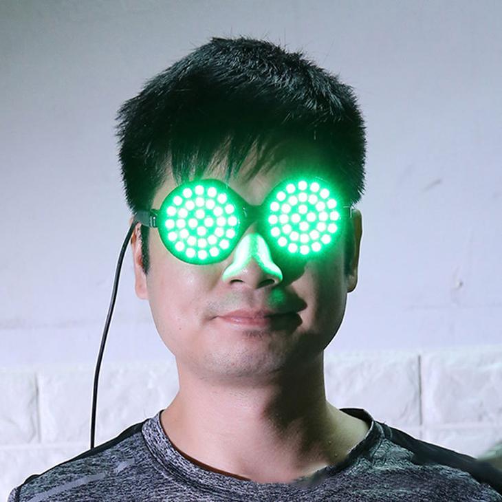 変色発光メガネ