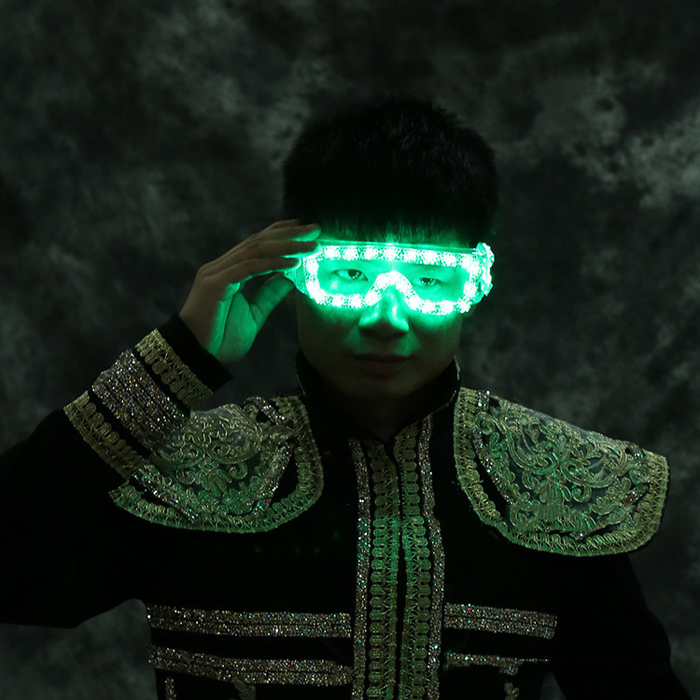 LED発光メガネ赤い光電池ボックス型