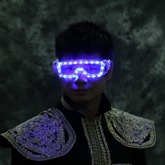 最新 LED発光メガネ