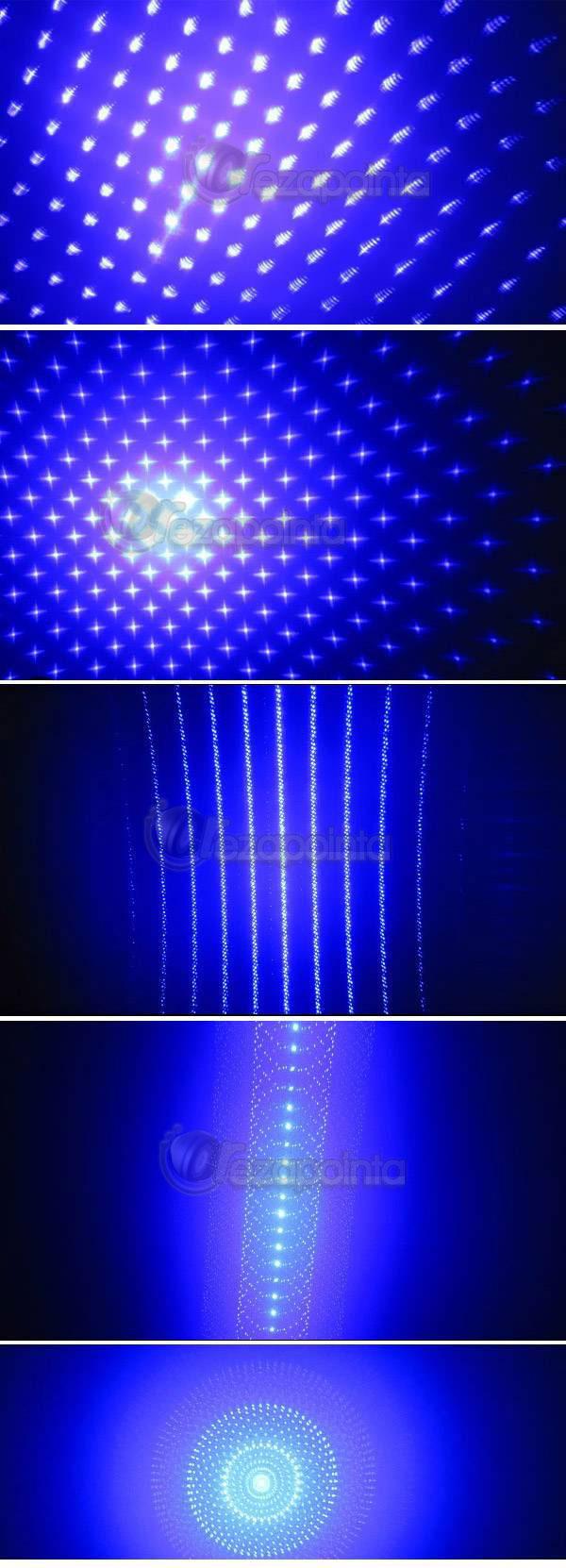5in1 レーザーペン/レーザー懐中電灯 満天の星空 ブルーバイオレット