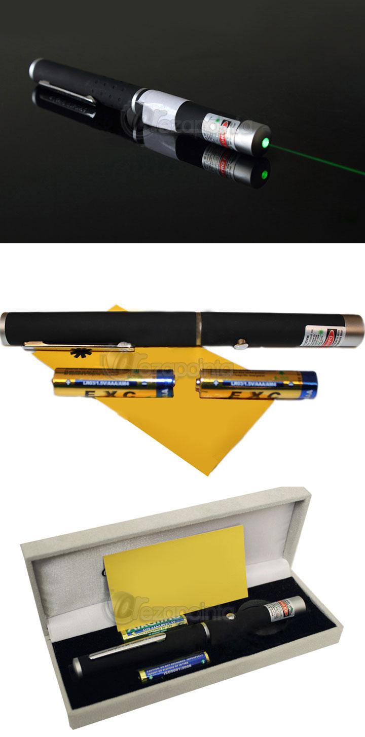 強力50mW 緑色レーザーポインター レーザーペン 指示棒