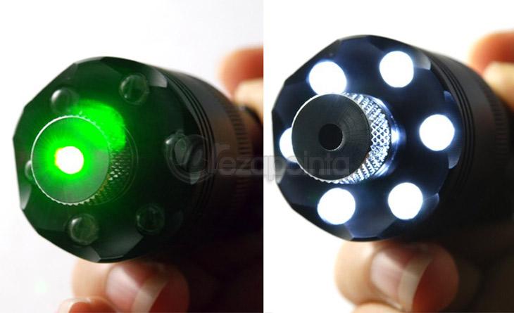 200mWレーザー懐中電灯 緑 レーザーポインター 高出力LED懐中電灯