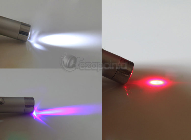 3in1 5mW ミニLEDレーザー懐中電灯 キーホルダー