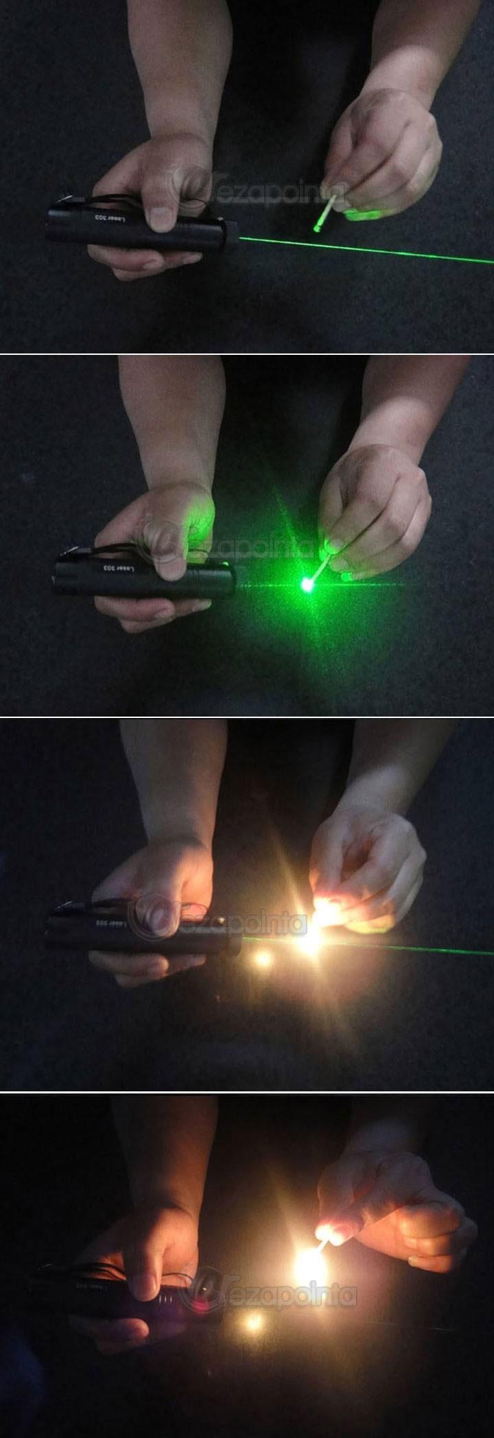 レーザーポインター マッチに点火