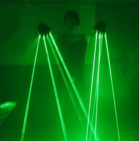 緑レーザーグローブ
