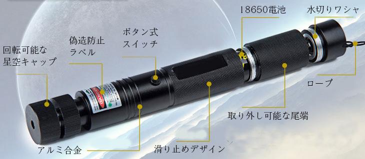 レーザーポインター レッド2000mw