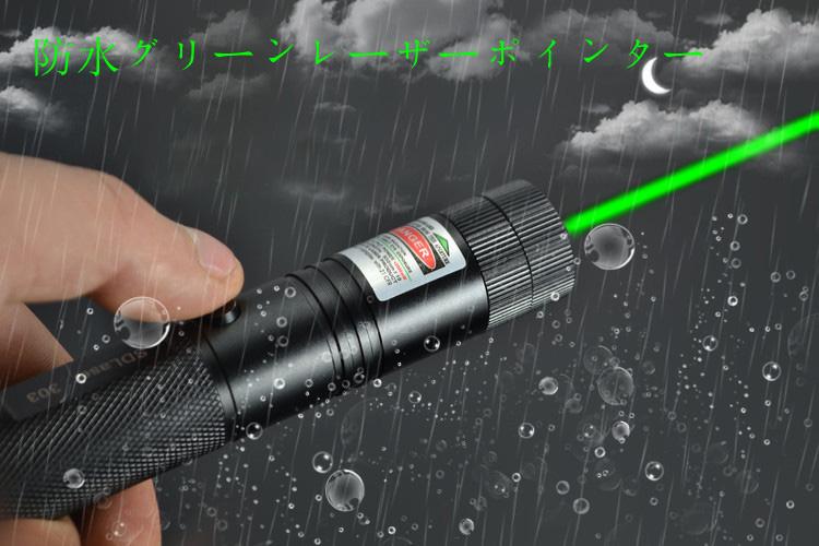安全 緑レーザーポインター