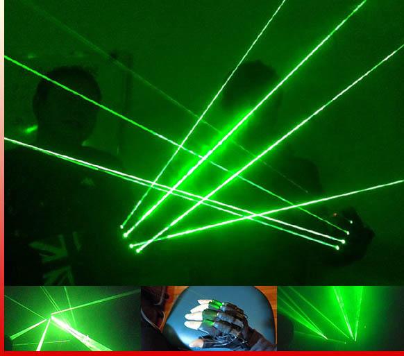 レーザー光線手袋