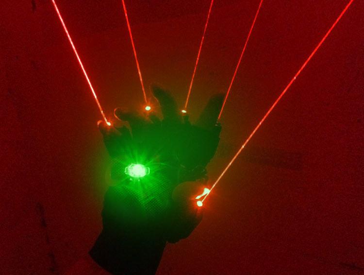 レーザーポインター手袋