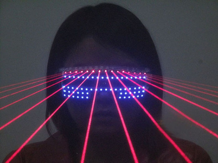 LEDメガネ舞台演出
